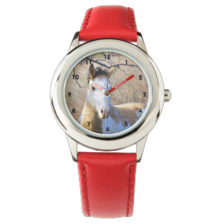 Malen Sie Pferdekinderuhr Armbanduhr