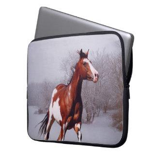 Malen Sie Pferdeschnee-Laptop-Hülse Laptopschutzhülle