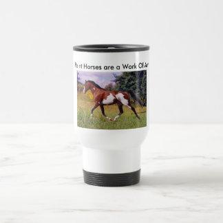Malen Sie Pferdtrotting Tasse