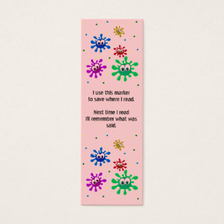 Malen Sie platsche Buch-Kennzeichen Mini-Visitenkarten