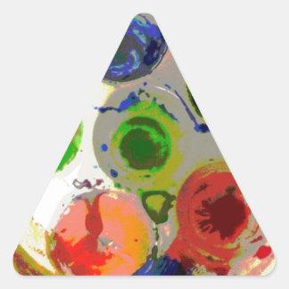 Malen Sie Splats Dreieckaufkleber