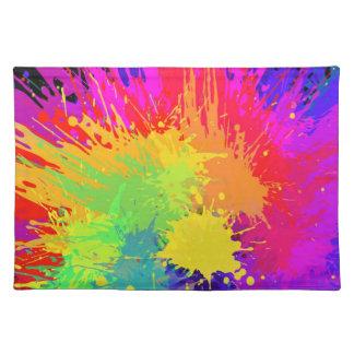 Malen Sie Splats Muster-Tischset