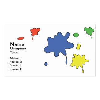 Malen Sie splats Visitenkarten