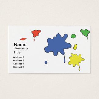 Malen Sie splats Visitenkarte