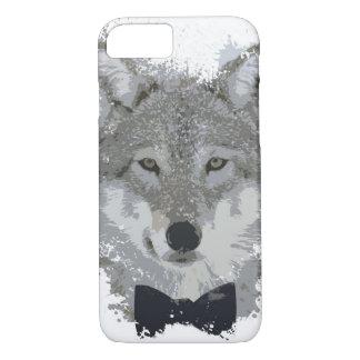 Malen Sie Splotch-Wolf mit BowTie iPhone 8/7 Hülle