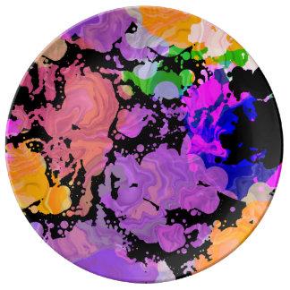 Malen Sie Spritzen-Spritzer-Druck-Platte Teller