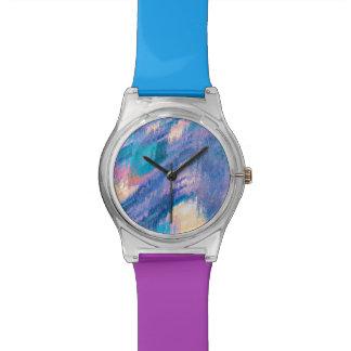 Malen Sie Spritzen-Uhr Uhr