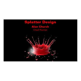 Malen Sie Spritzer-Geschäfts-Karten-Nr. 1 Visitenkarten