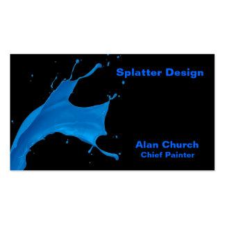 Malen Sie Spritzer-Geschäfts-Karten-Nr. 4 Visitenkarten
