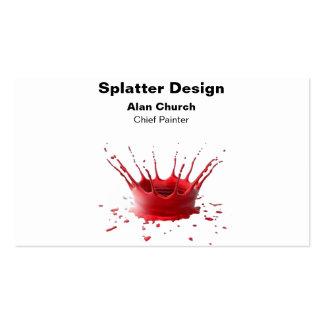 Malen Sie Spritzer-Geschäfts-Karten-Nr. 5 Visitenkarten