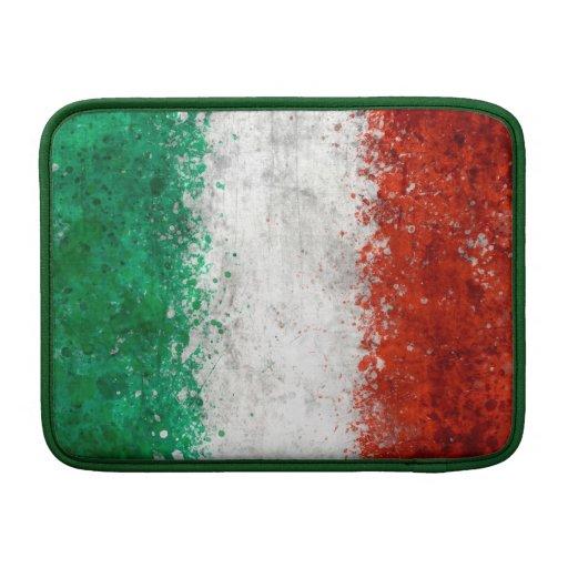 Malen Sie Spritzer-Italiener-Flagge Sleeve Fürs MacBook Air