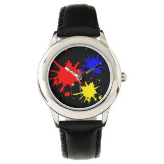 Malen Sie Spritzer-Mode-Uhr durch Julie Everhart Uhr