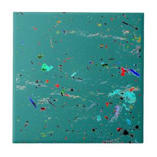 Malen Sie spritzt und beschmutzt abstrakte Kunst Keramikfliese