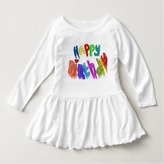 Malen Sie tropfendes alles Gute zum Geburtstag Kleid