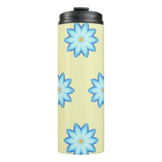 Malende blauer Lotos-Blumen-Blumentrommeln Thermosbecher