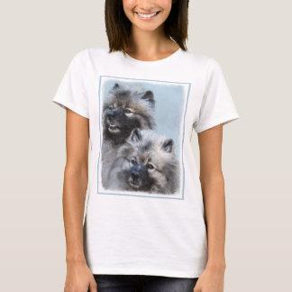 Malende Keeshond-Brüder - ursprüngliche Hundekunst T-Shirt