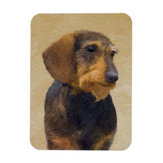 Malende ursprüngliche Hundekunst der Magnet