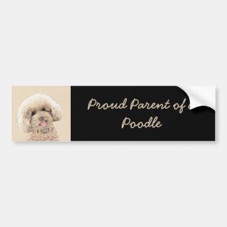 Malende ursprüngliche Hundekunst des Autoaufkleber
