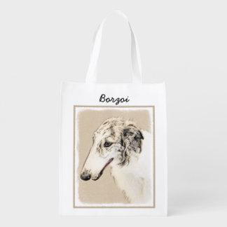 Malende ursprüngliche Hundekunst des Wiederverwendbare Einkaufstasche