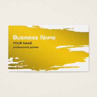 Maler-GoldVisitenkarte-Schablone Visitenkarte