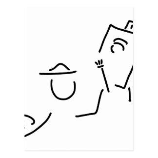 maler kuenstler staffelei postkarte