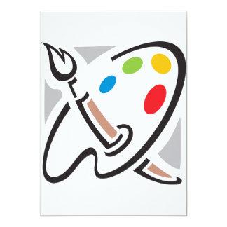 Maler-Paletten-Einladungen 12,7 X 17,8 Cm Einladungskarte