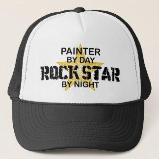 Maler-Rockstar bis zum Nacht Truckerkappe