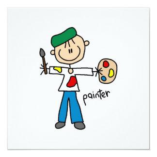 Maler-Strichmännchen Personalisierte Einladungskarten