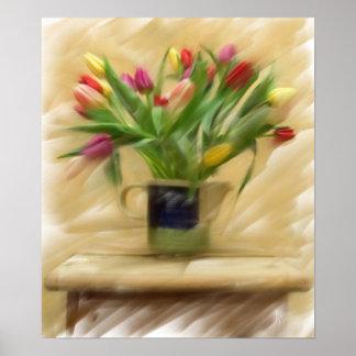 Malerei auf Leinwand Tulpen - besonders angefert Poster