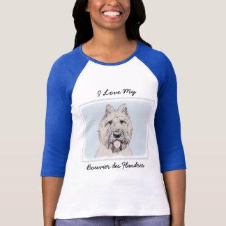 Malerei Bouvier DES Flandres - ursprüngliche T-Shirt