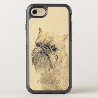 Malerei Brüssels Griffon - niedliche ursprüngliche OtterBox Symmetry iPhone 8/7 Hülle