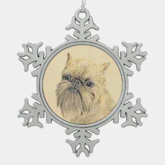Malerei Brüssels Griffon - niedliche ursprüngliche Schneeflocken Zinn-Ornament