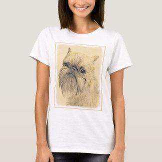 Malerei Brüssels Griffon - niedliche ursprüngliche T-Shirt