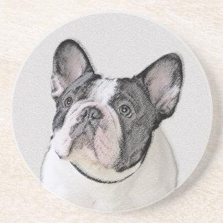 Malerei der französischen Bulldoggen-(Brindle Getränkeuntersetzer