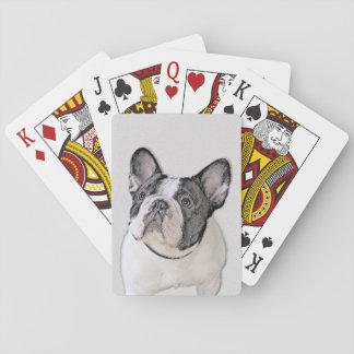 Malerei der französischen Bulldoggen-(Brindle Spielkarten