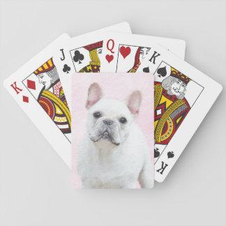 Malerei der französischen Bulldoggen-(Creme/Weiß) Spielkarten