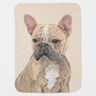 Malerei der französischen Bulldoggen-(Kitz Babydecke