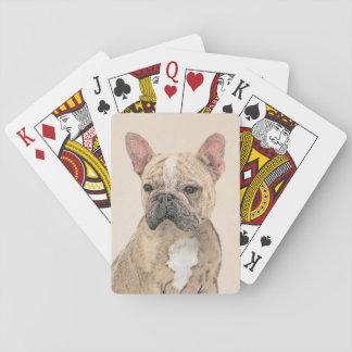 Malerei der französischen Bulldoggen-(Kitz Spielkarten