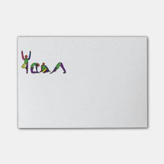 Malerei der Yoga-Posen, die YOGA buchstabieren Post-it Klebezettel
