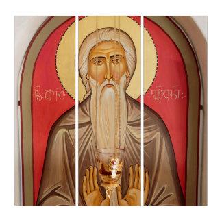 Malerei eines älteren Heiligen Triptychon