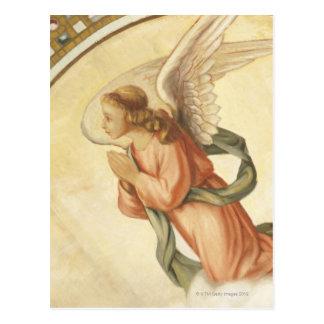 Malerei eines betenden Engels Postkarte