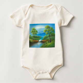 Malerei eines Nebenflusses im Sommer Baby Strampler