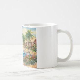 Malerei eines Segelboots in Hawaii Kaffeetasse