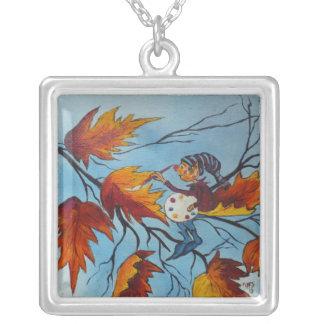 Malerei-Elf-Malerei HalsketteAnn Hayes Versilberte Kette