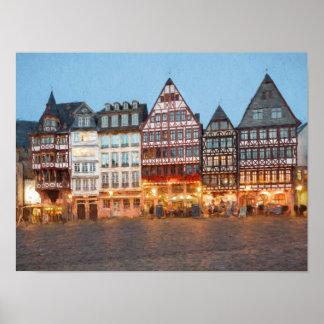 Malerei Frankfurts Altstadt Poster