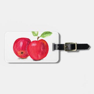 Malerei-Gärtnergeschenk der roten Äpfel fruchtiges Kofferanhänger