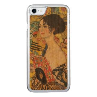 Malerei Gustav-Klimt Damen-With Fan Art Nouveau Carved iPhone 8/7 Hülle
