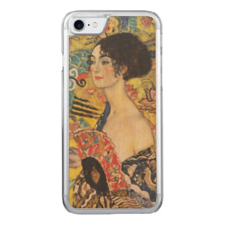Malerei Gustav-Klimt Damen-With Fan Art Nouveau Carved iPhone 8/7 Hülle
