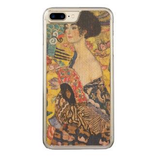 Malerei Gustav-Klimt Damen-With Fan Art Nouveau Carved iPhone 8 Plus/7 Plus Hülle