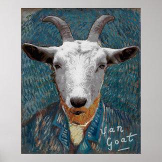 Malerei-Kunst Vincents Van Goat Self-Portrait Poster